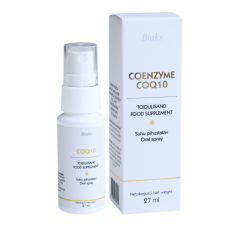 Pihustatav, kliiniliselt tõestatud parima imenduvusega patendeeritud vesilahustuv vitamiin Q10- Coenzyme CoQ10 Spray