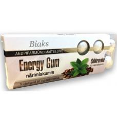 Suhkruvaba, kofeiini sisaldav närimiskumm- Biaks Energy Gum