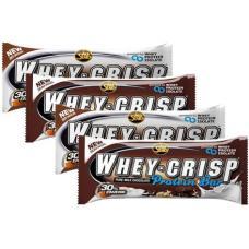 Piimašokolaadi proteiinibatoon: Vaarika tükkidega, kookose mandliga, krõbeda šokolaadiga, valge šokolaadiga - All Stars Whey Crisp (10TK)