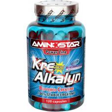Aminostar Kre-Alkalyn 120 kps - puhverdatud kreatiini monohüdraadi kapslid
